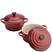 Le Creuset Set of 2 Cerise Petite Casserole Dishes
