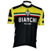 Bianchi Cianciana Short Sleeve Jersey - Black/Yellow