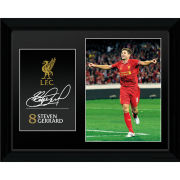 "Liverpool Gerrard 13/14 - 16"""" x 12"""" Framed Photographic"