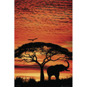 Africa Sunset Elephant - Maxi Poster - 61 x 91.5cm