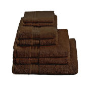 Restmor 100% Egyptian Cotton 7 Piece Supreme Towel Bale Set - Chocolate