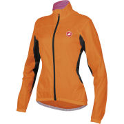 Castelli Women's Velo Windbreaker Jacket - Orange Fluo
