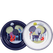 Folklore Day and Night Plates - Set of 2