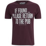 Xplicit Men's If Found T-Shirt - Wine
