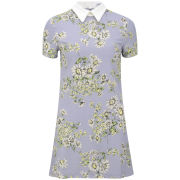 Glamorous Women's Daisy Print Collar Dress - Blue