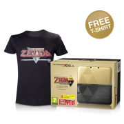 Nintendo 3DS XL The Legend of Zelda: A Link Between Worlds Limited Edition + FREE T-Shirt (Large - Black)