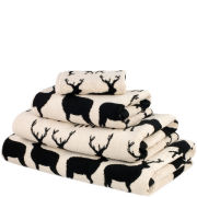 Anorak Kissing Stags Towels - Black
