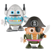 Eggbods Boys Twin Pack - Eggbot and Captain Hardboiled