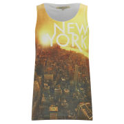 Brave Soul Men's 'New York' Print Vest - White