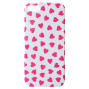Alphabet Bags 'Hearts' iPhone 5-5S Case - White/Pink