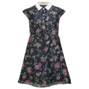 Carven Women's Flower Hair Net Dress - Navy