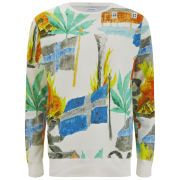 Soulland Men's Svea All Over Print Sweatshirt - Off-White/Multi