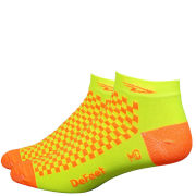 DeFeet Speede Hi Vis Socks - Yellow with Orange