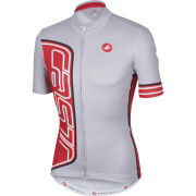 Castelli Formula Full Zip Jersey - Light Grey - Grey/Red