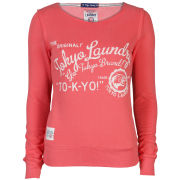 Toyko Laundry Women's Slash Neck Sweatshirt - Coral