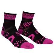 Compressport Pro Racing Socks - Run (Highcut) - Black/Pink