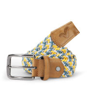 Voi Men's Donald Nylon Weave Belt - Yellow/Green