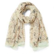 Impulse Women's Bird Print Scarf - Pink/Multi