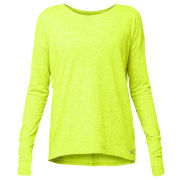 LIJA Women's Serene Long Sleeve Yoga Top - Fren Green