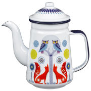Folklore Coffee Pot - White