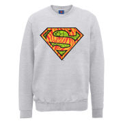 DC Comics Sweatshirt - Superman Wild Logo - Heather Grey
