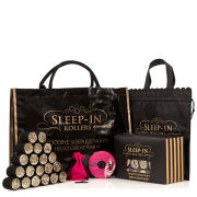 Sleep In Rollers Black & Gold Glitter Gift Set