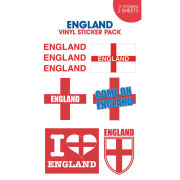 England Come On Vinyl Sticker 10 x 17cm