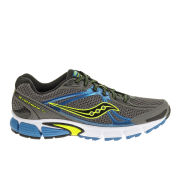 Saucony Men's Ignition 5 Neutral Running Shoes (Medium Width) - Grey/Blue/Citron