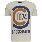 Crosshatch Men's Fazedown T-Shirt - Silver Birch