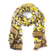 Lara Bohinc Leopard Yellow Scarf - Yellow
