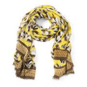 Lara Bohinc Leopard Yellow Scarf - Yellow