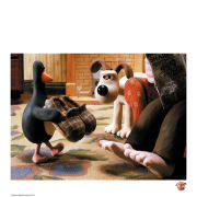 Wallace and Gromit Fine Art Print - Here's Feathers