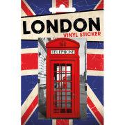 London Phonebox - Vinyl Sticker - 10 x 15cm