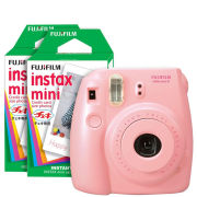 Fujifilm Instax Mini 8 Instant Photo Camera Bundle with 40 Photo Film Pack - Pink