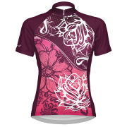 Primal Women's Florence Maroon Short Sleeve Jersey - Maroon/Purple/White