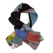 Paul Smith Accessories Miami Stripe Square Scarf - Black
