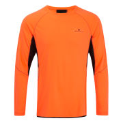 RonHill Men's Vizion Long Sleeve Crew Neck Top - Black/Fluo Orange