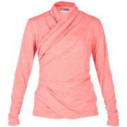 LIJA Women's Draped Side Zip Top - Calypso Heather