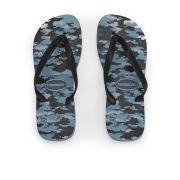 Havaianas Men's Top Camo Print Flip Flops - Indigo Blue