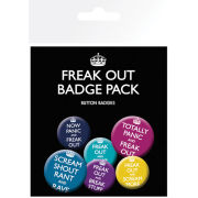 Now Panic And Freak Out - Badge Pack