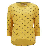 Only Women's Cameron Dog Print Sweatshirt - Mineral Yellow