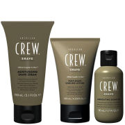 American Crew Shave Away Trio - Lubricating Shave Oil, Post-Shave Cooling Lotion and Moisturising Shave Cream