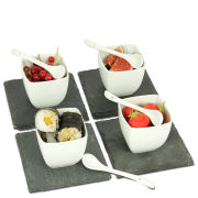 Natural Living 12 Piece Slate Tapas Set