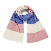 Maison Kitsuné Women's Wool and Cashmere Scarf - Pink/Ecru/Blue