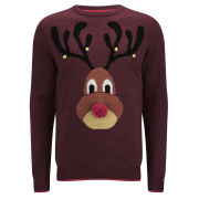 Threadbare Men's Rudolph Knitted Jumper - Red