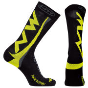 Northwave Men's Extreme Winter High Socks - Black/Fluorescent Yellow