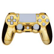 PlayStation DualShock 4 Custom Controller - Chrome Gold - White Buttons