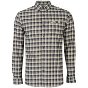 Farah 1920 Men's Gower Long Sleeve Shirt - Deep Ocean