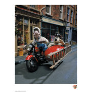 Wallace and Gromit Fine Art Print - On Our Way
