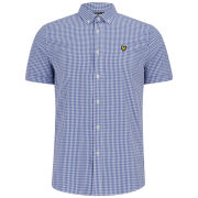 Lyle & Scott Men's Short Sleeve Gingham Shirt - French Navy